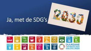 screenshot uit filmpje : ja met de SDG's - 2030