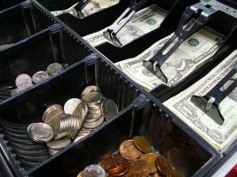 kassa met geld