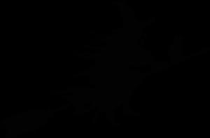 silhouet van een heks