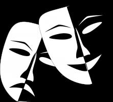 verdrietig en blij masker