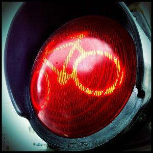 Rood verkeerslicht voor fietsers
